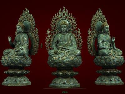 Bộ Tam Thế Phật - Tượng Phật Giáo