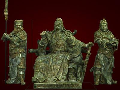 Món quà tết-Bộ tượng Tam Thánh: Quan Công, Châu Xương, Quan Bình