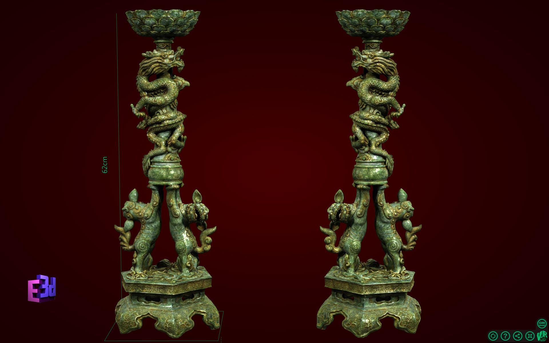 Trang trí bàn thờ - Đôi chân nến