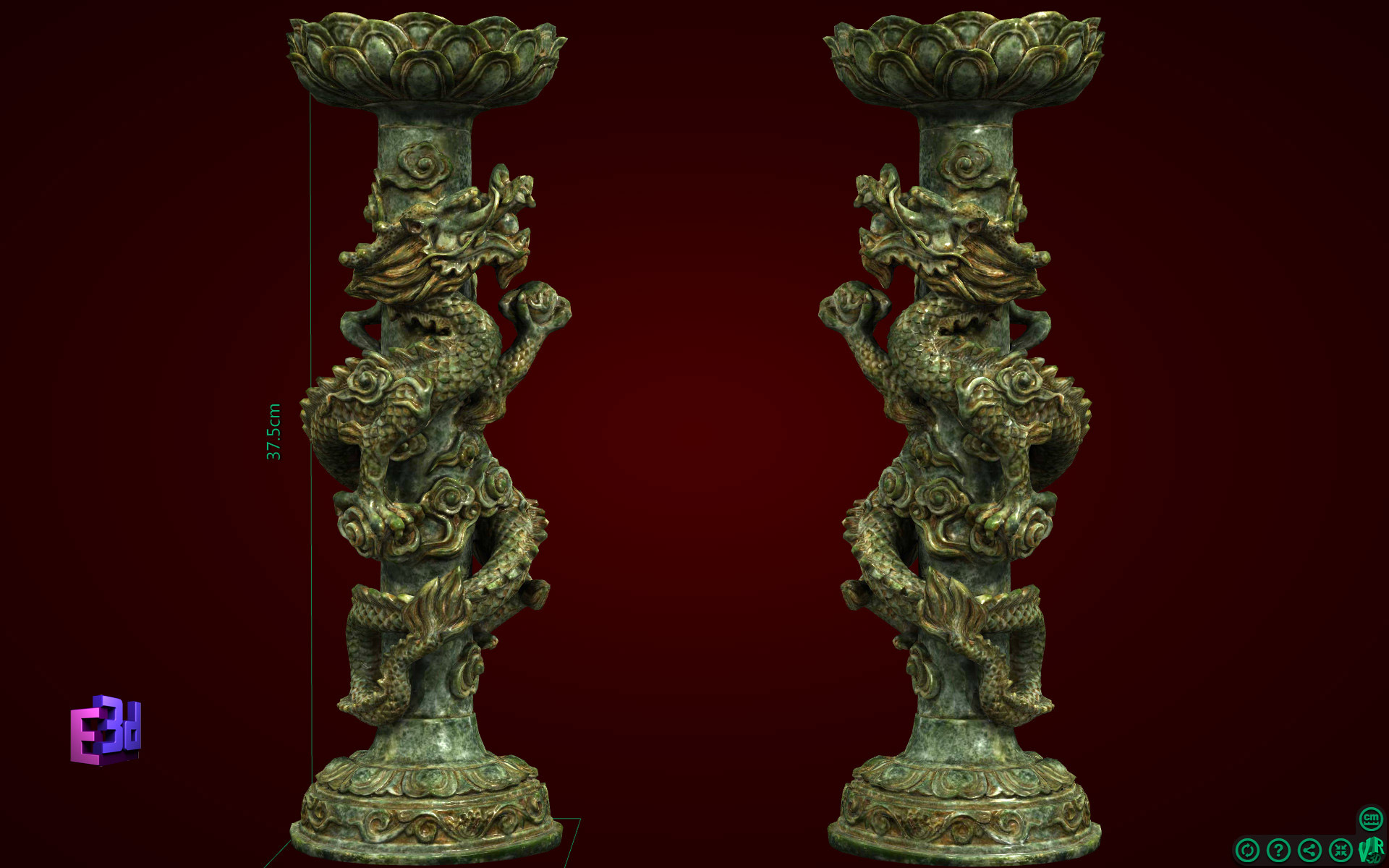 Đồ trang trí bàn thờ - Đôi chân nến