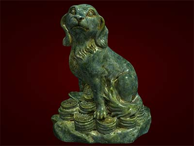tượng chó phong thủy,  phụ kiện trang trí bàn làm việc