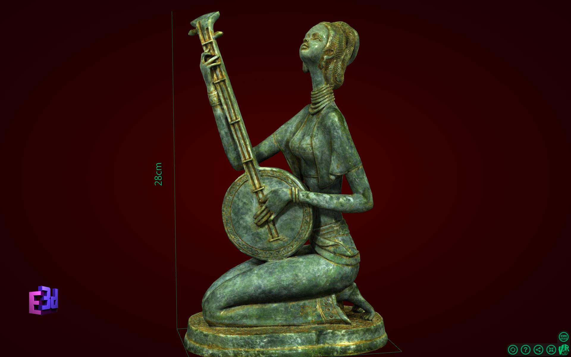 Tượng nghệ thuật - Cô gái đánh đàn
