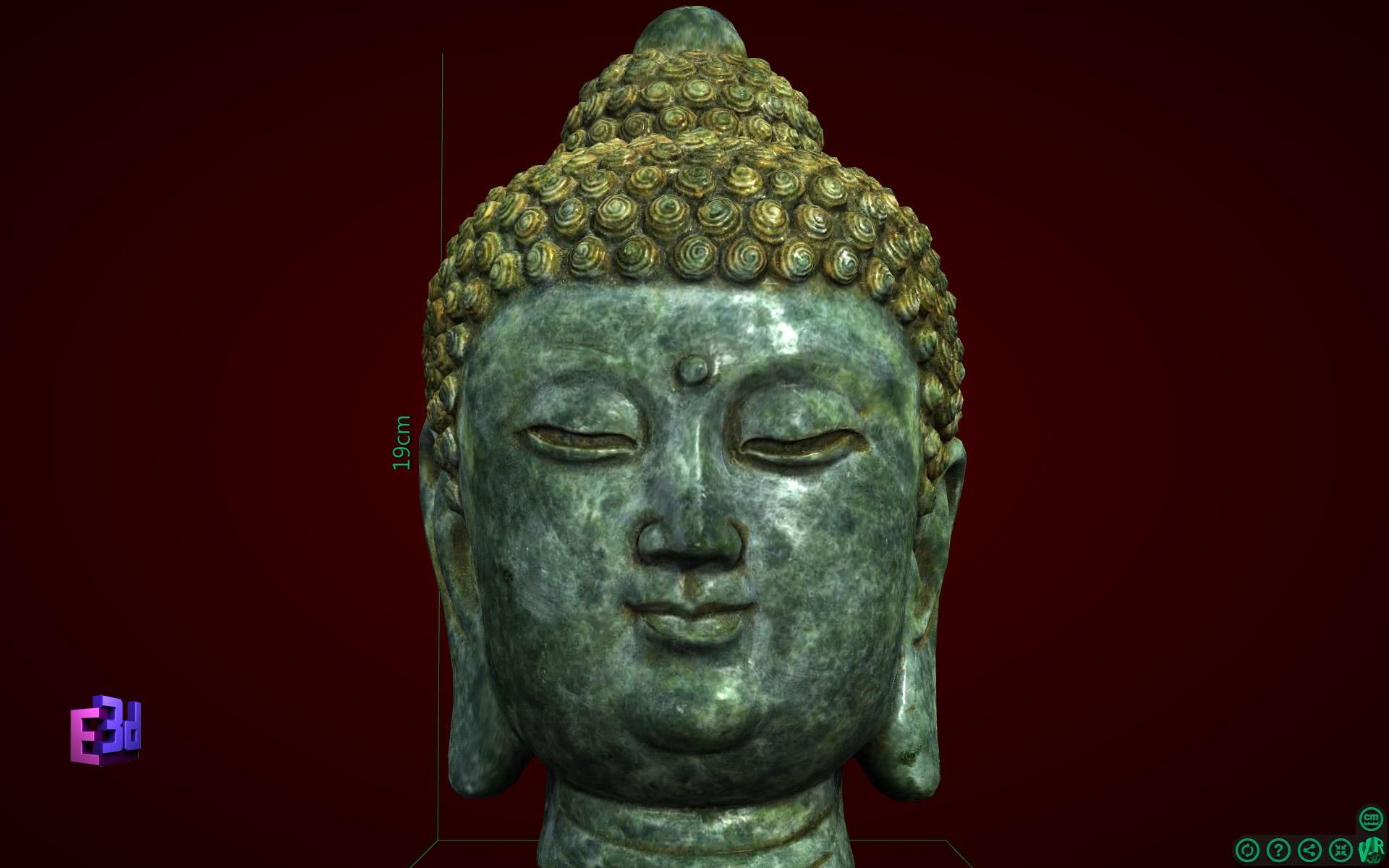 Decor trang trí - Tượng đầu Phật Thích Ca