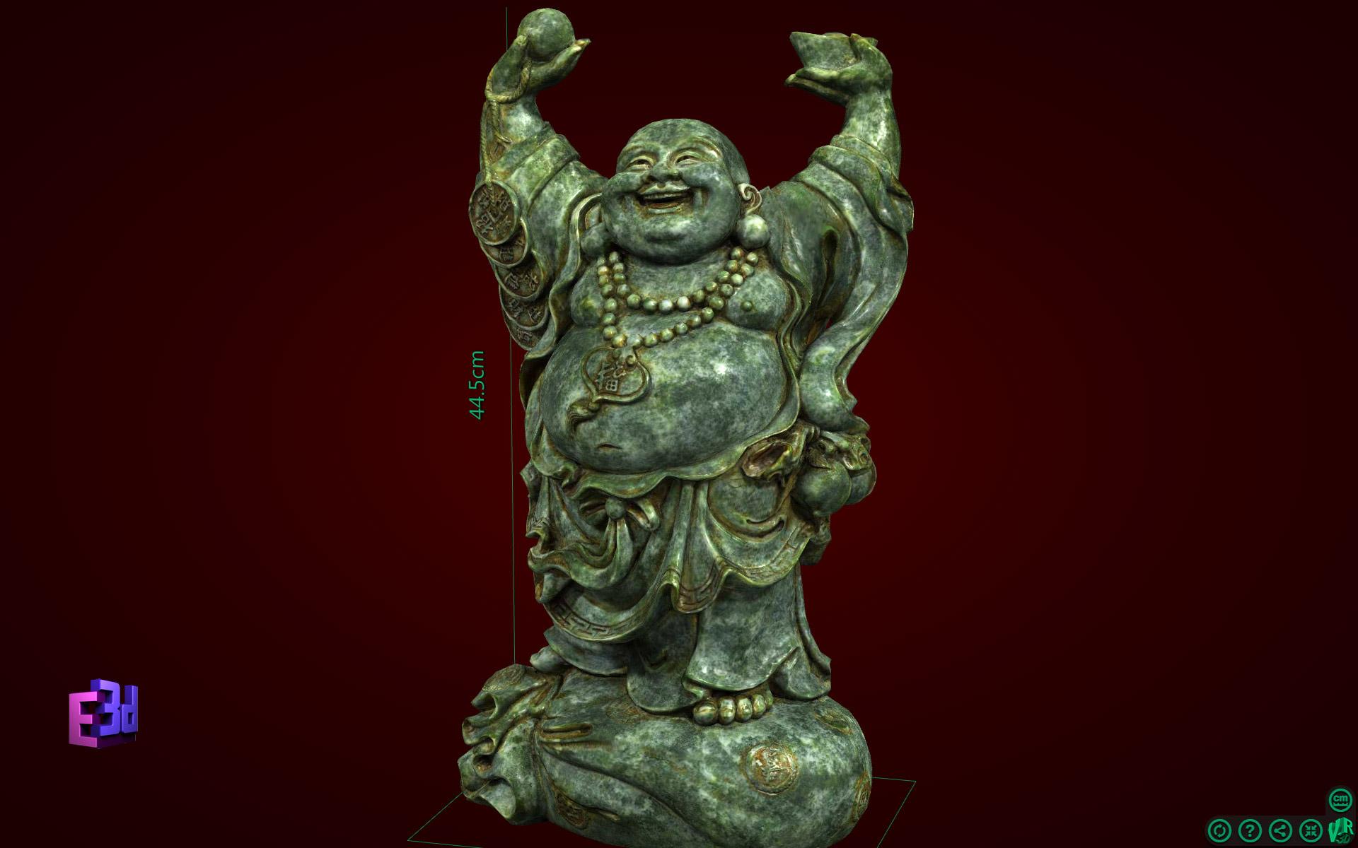 Tượng Phật Di Lặc dâng vàng