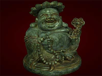 Tượng Phật Di Lặc cầm như ý. Tượng phong thủy. Quà tặng.