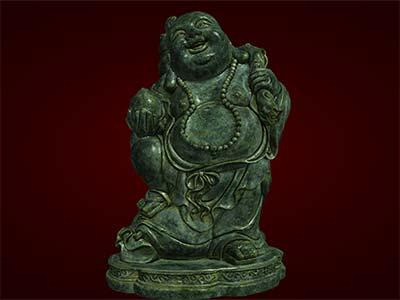 Tượng Phật Di Lặc đứng cầm đào. Tượng phong thủy. Hàng thủ công mỹ nghệ. Đồ lưu niệm. Quà tặng. Tượng tôn giáo.