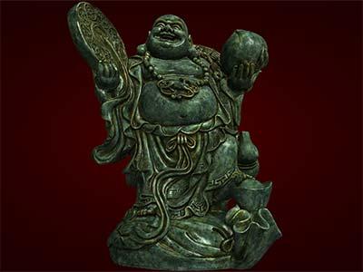 Tượng Phật Di Lặc đứngcầm đồng tiên. Tượng phong thủy. Hàng thủ công mỹ nghệ. Đồ lưu niệm. Quà tặng. Tượng tôn giáo.