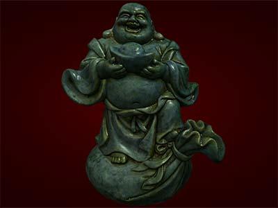 Tượng Phật Di Lặc đứng trên bị. Tượng phong thủy. Hàng thủ công mỹ nghệ. Đồ lưu niệm. Quà tặng