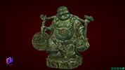 Tượng Phật Di Lặc gánh tiền