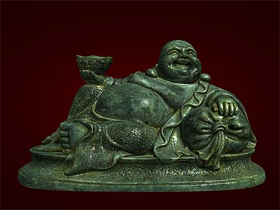 Tượng Phật Di Lặc nằm tựa bị. Tượng phong thủy. Hàng thủ công mỹ nghệ. Đồ lưu niệm. Quà tặng.