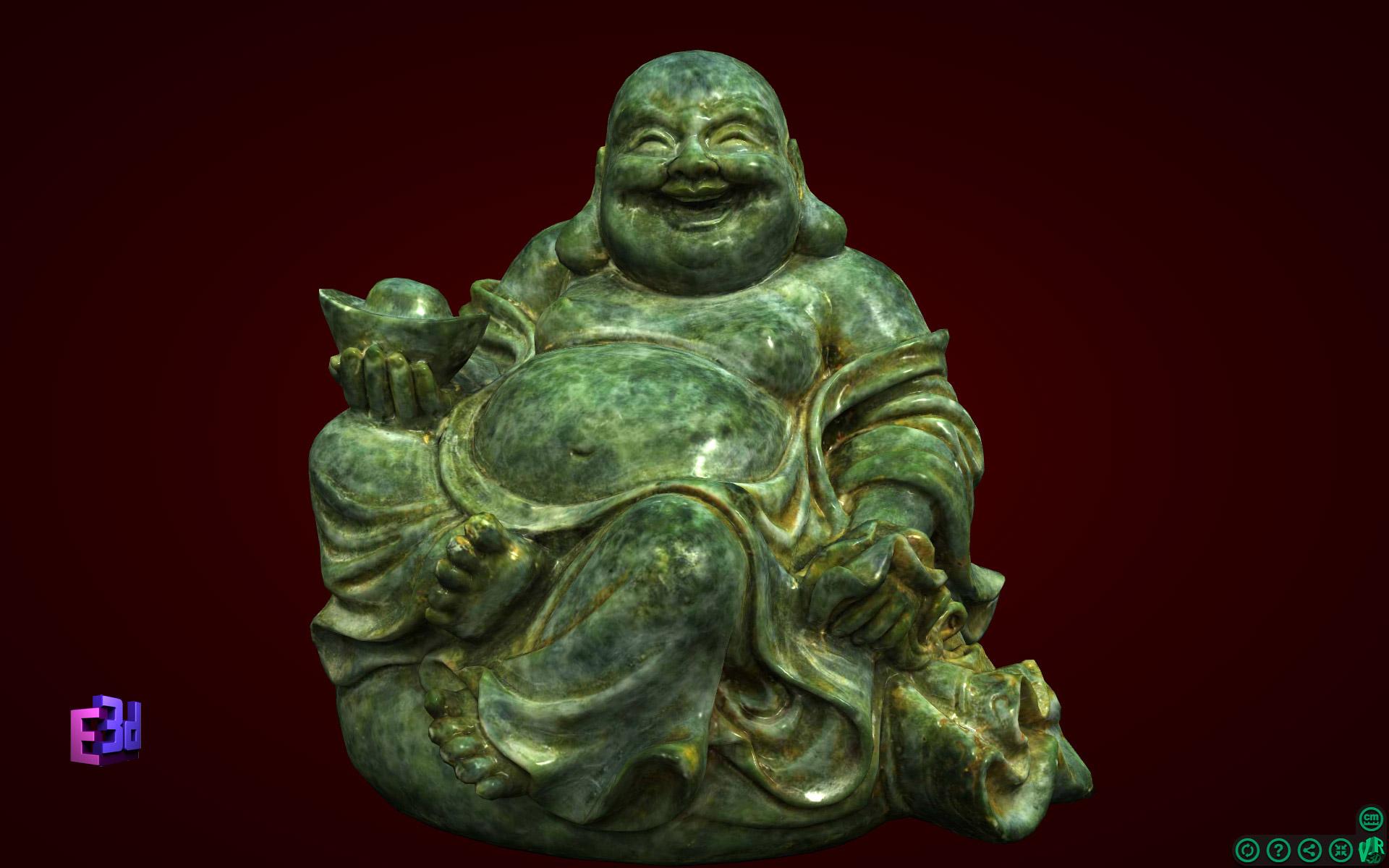 Tượng Phật Di Lặc ngồi trên bị
