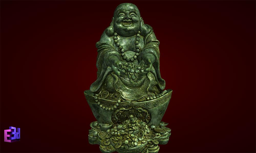 Tượng Phật Di Lặc thả tiền vàng