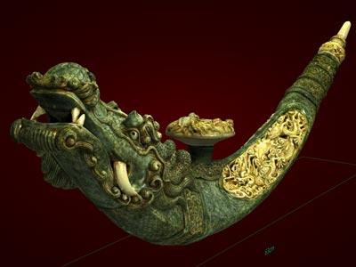 Điếu rồng đại - Tượng mỹ nghệ