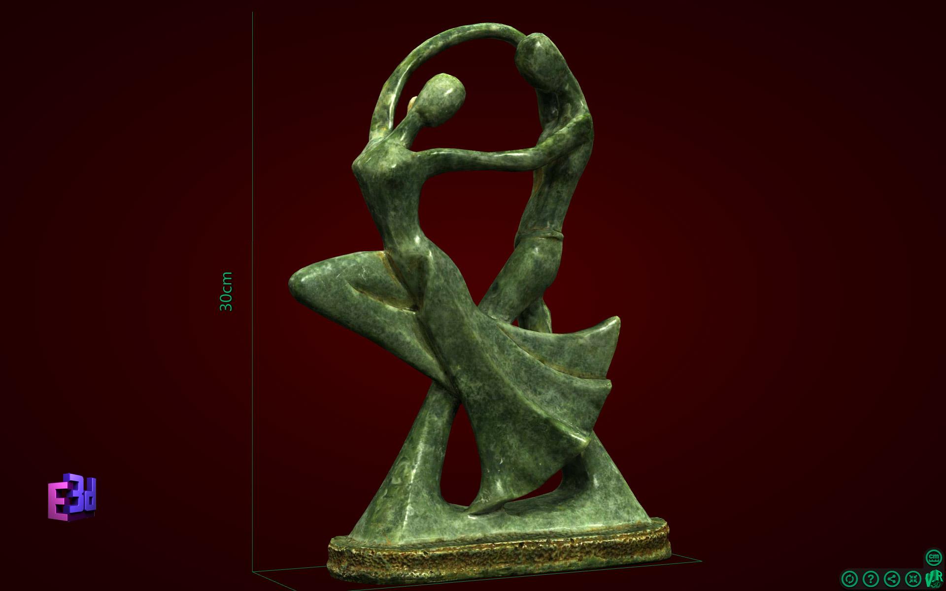 Đôi nhảy múa liền - tượng nghệ thuật
