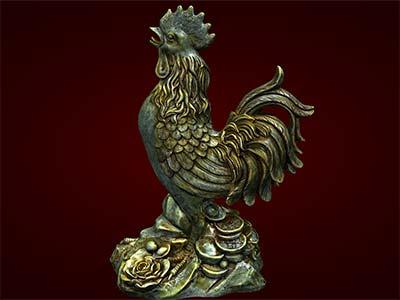 Tượng gà tiền, gà trống, gà giáp, gà phong thủy