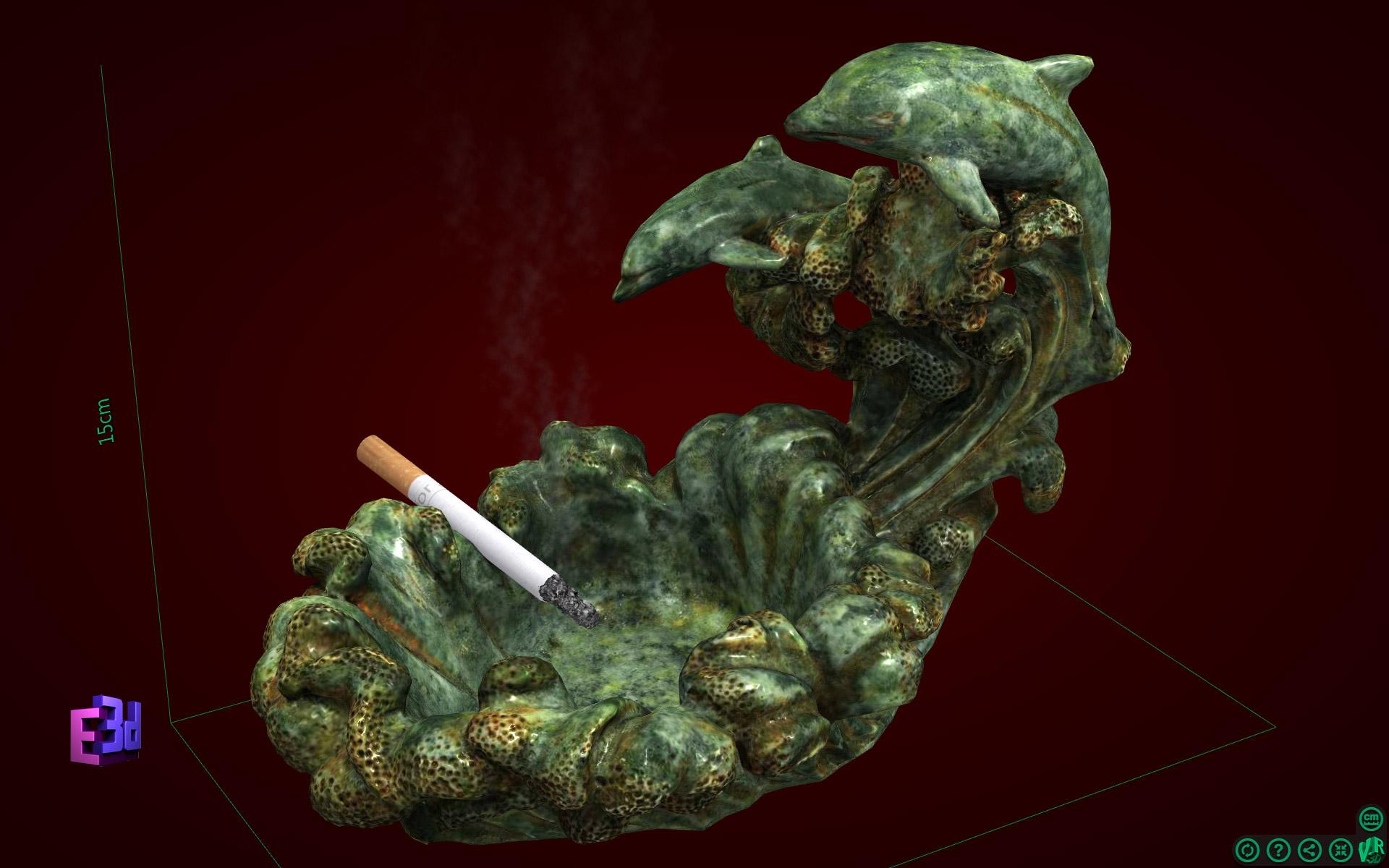 Đồ gạt tàn thuốc - Trang trí phòng khách nhà cấp 4
