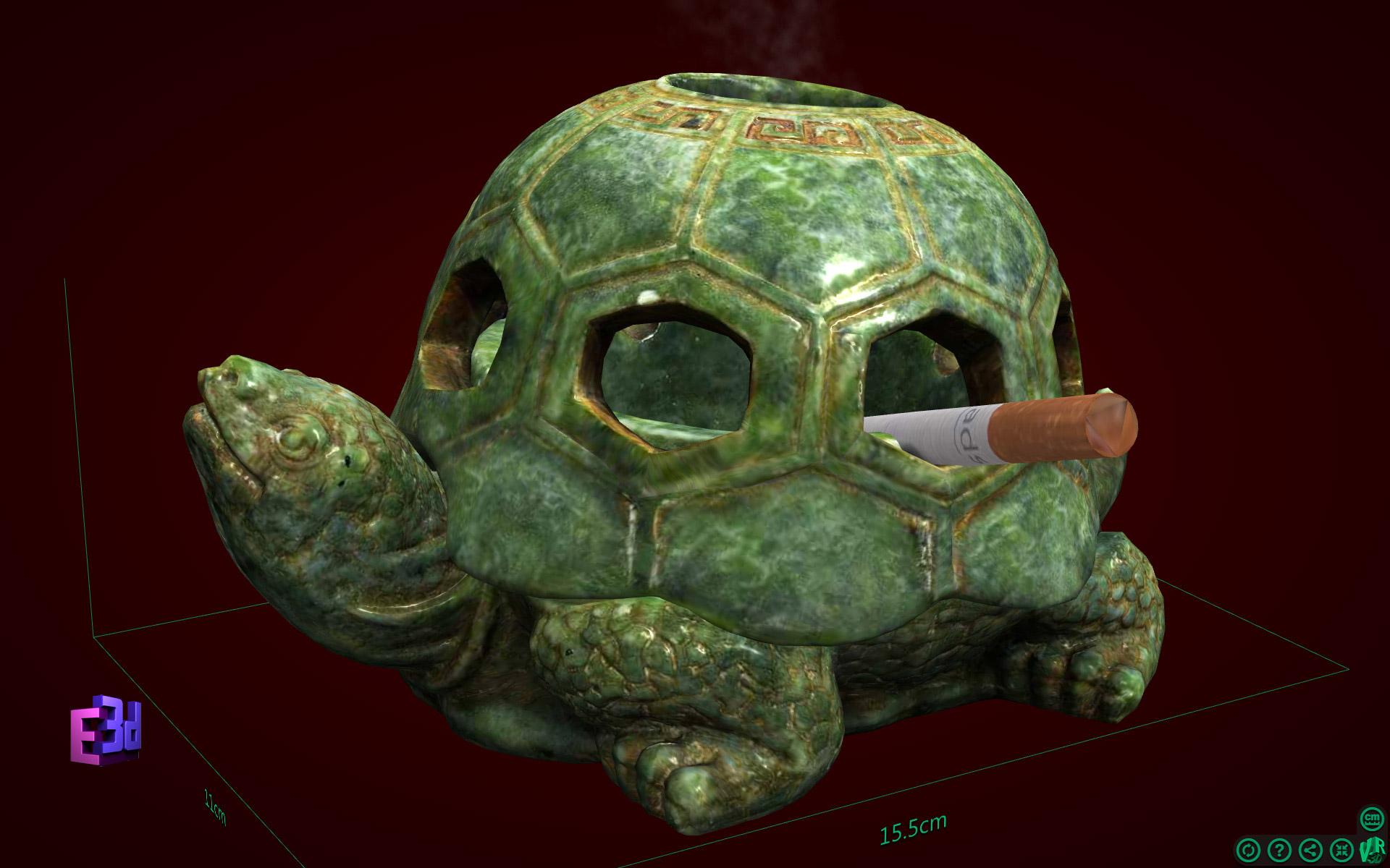 Gạt tàn rùa - Quà mừng thọ ông
