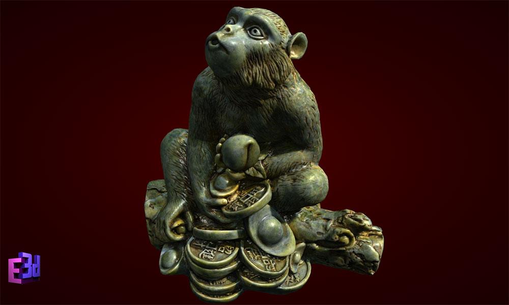 Quà tết 2016 -Tượng khỉ tiền
