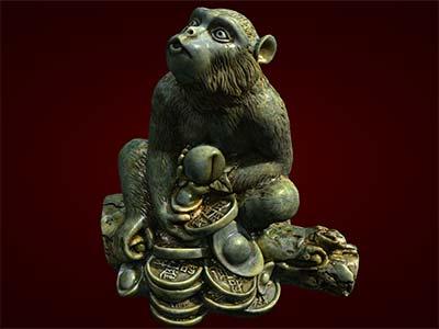 tượng khỉ tiền quà tặng tết Bính Thân