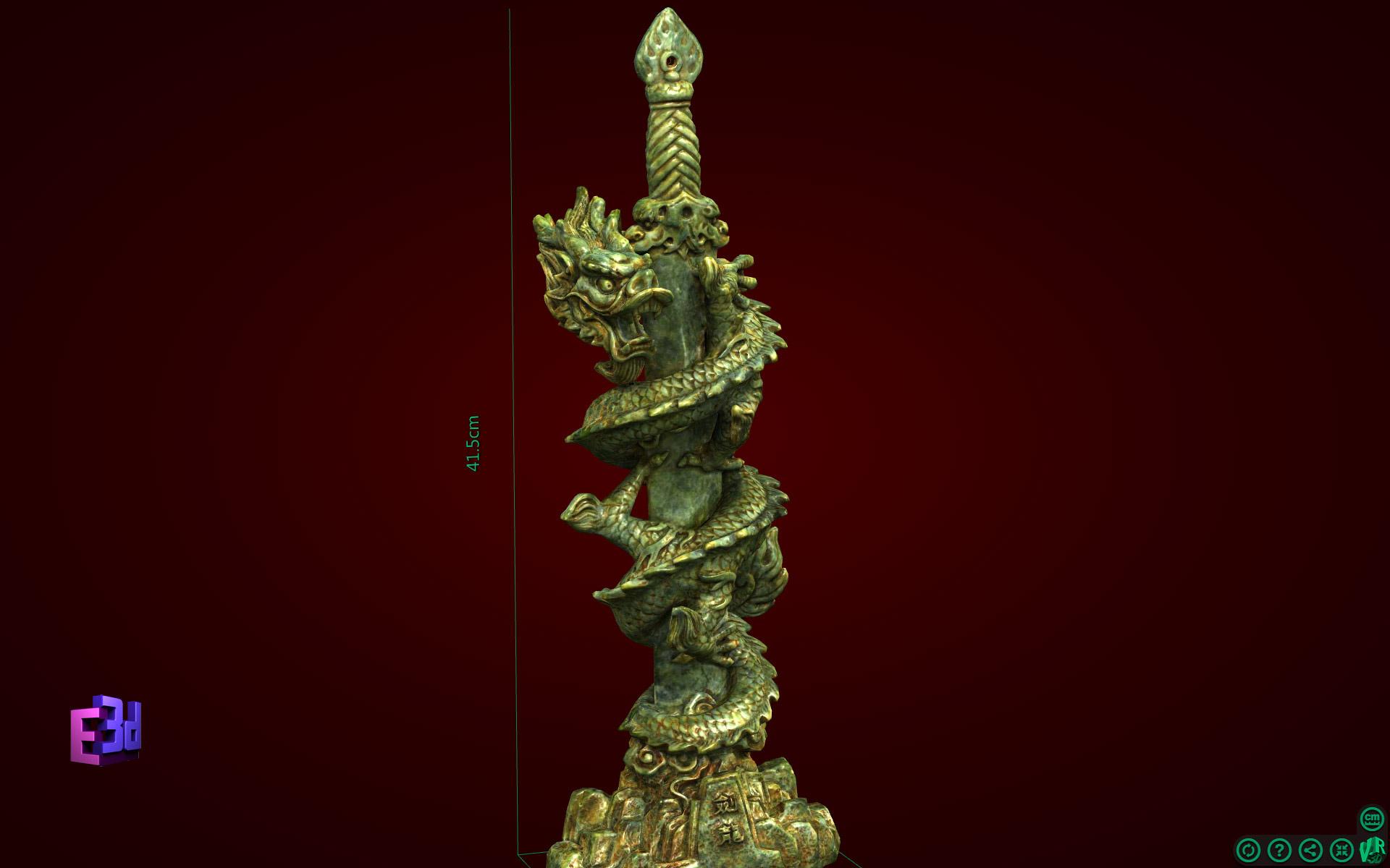 Kiếm rồng - Tượng phong thủy