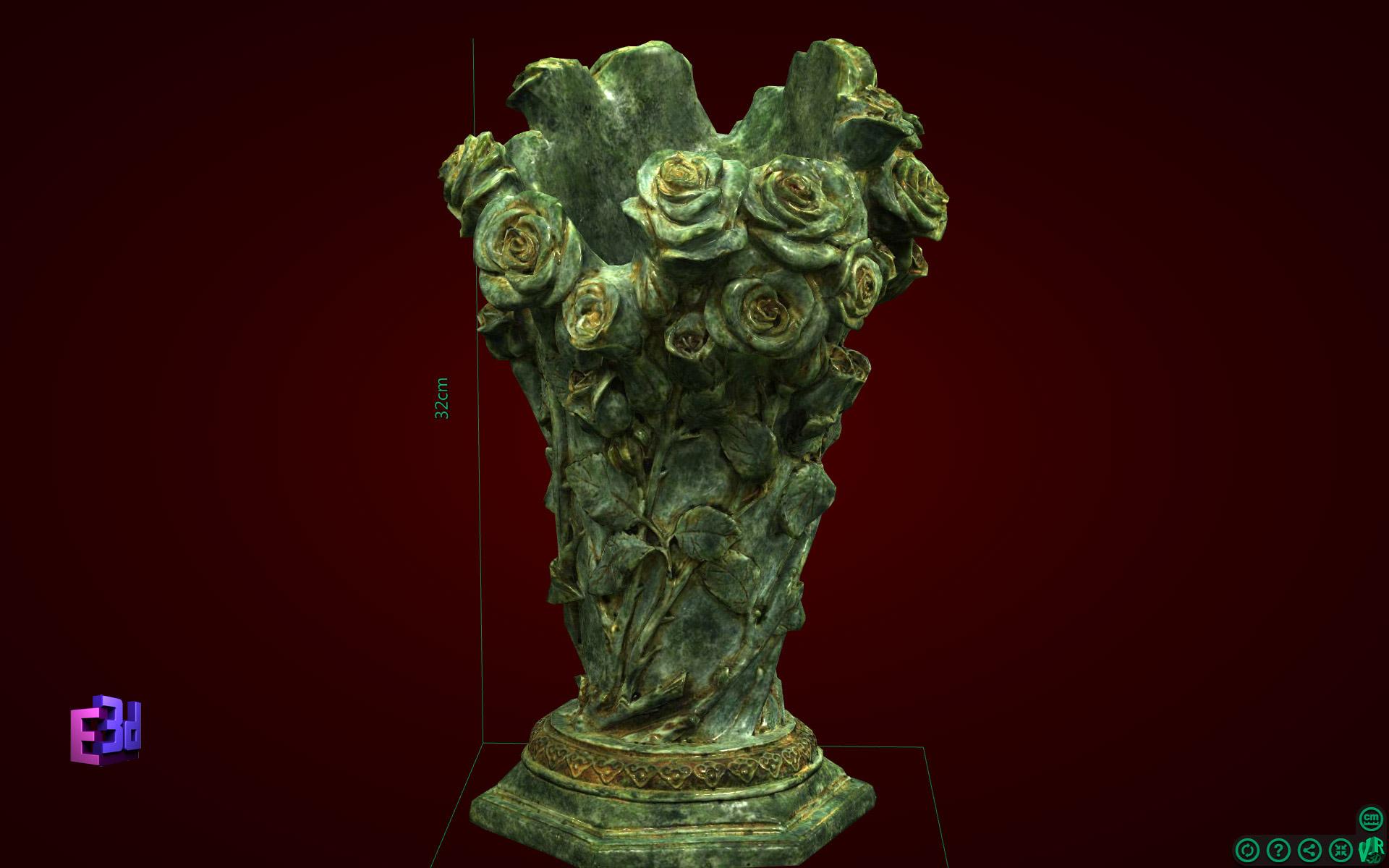 Lọ hoa hồng cao