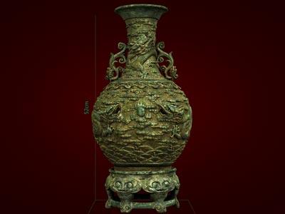Quà tặng tân gia, Lọ Tam Long - Tượng linh vật Rồng - Lọ hoa đẹp