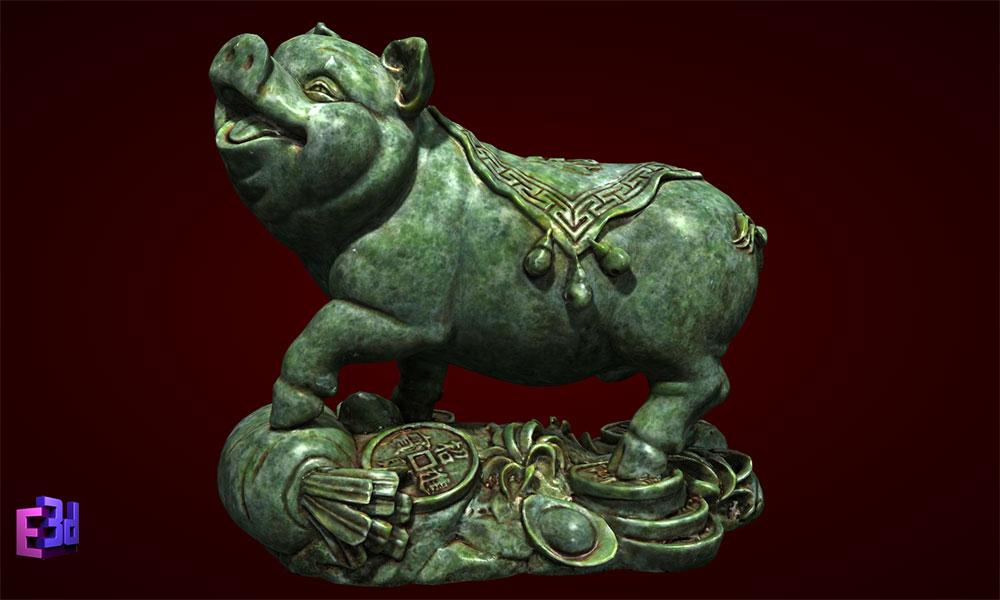 Lợn tiền giáp to