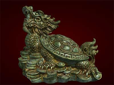 Tượng con rùa, tượng phong thủy, tượng đúc composite, tượng long quy