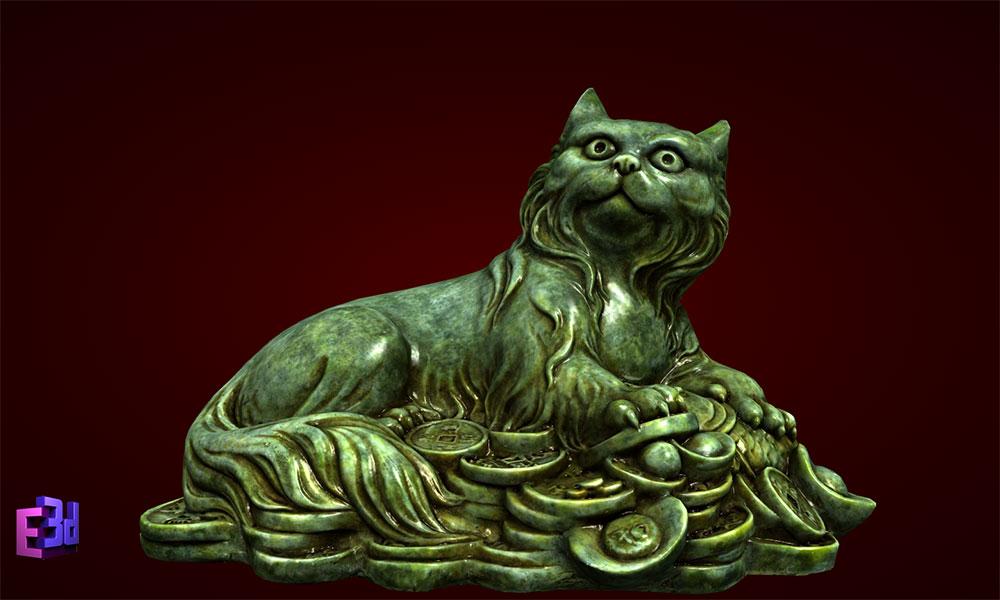 Qua sinh nhat - Tượng mèo