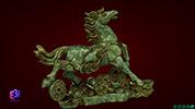 Tượng mỹ nghệ ngựa tiền chạy