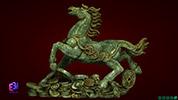 Tượng ngựa tiền chạy to