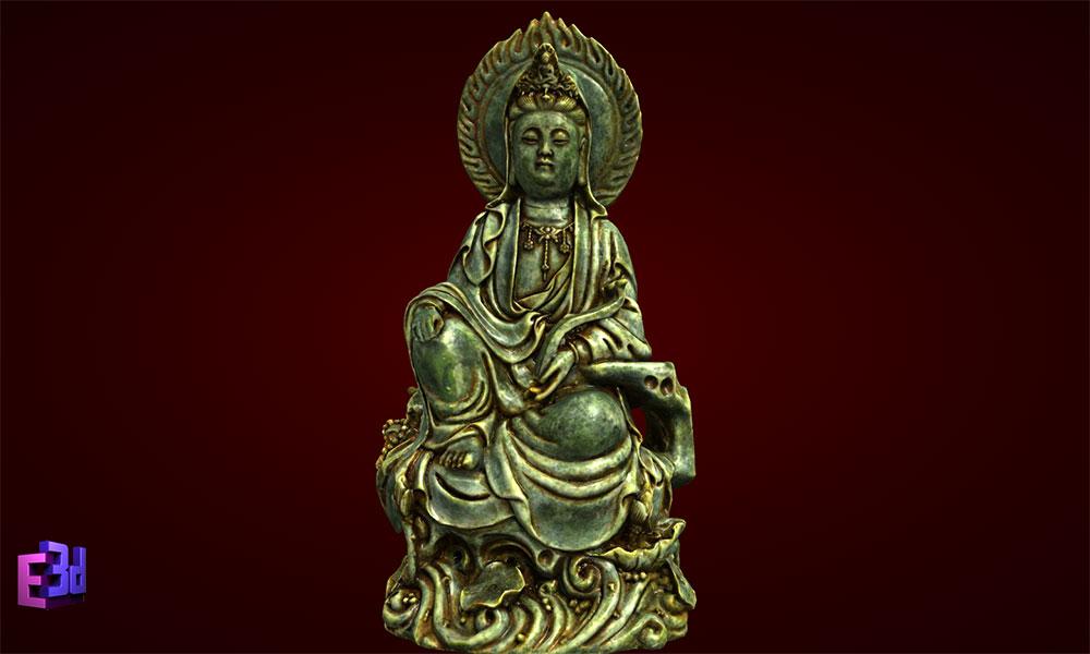 Tượng Phật Bà Quan Âm cầm như ý