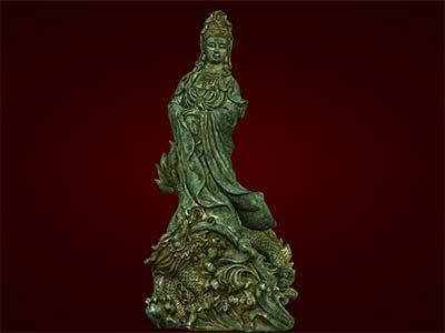 Hình Tượng Phật Bà Quan Âm cưỡi rồng to. Quà tặng tết