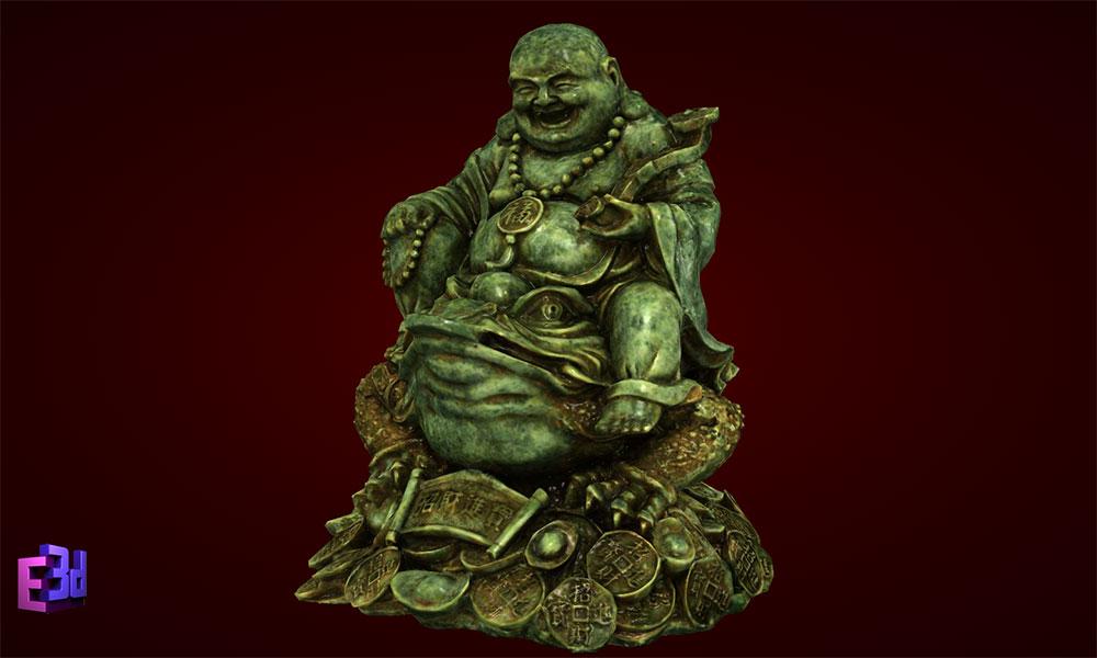Tượng Phật Di Lặc cưỡi cóc - Tượng phong thủy