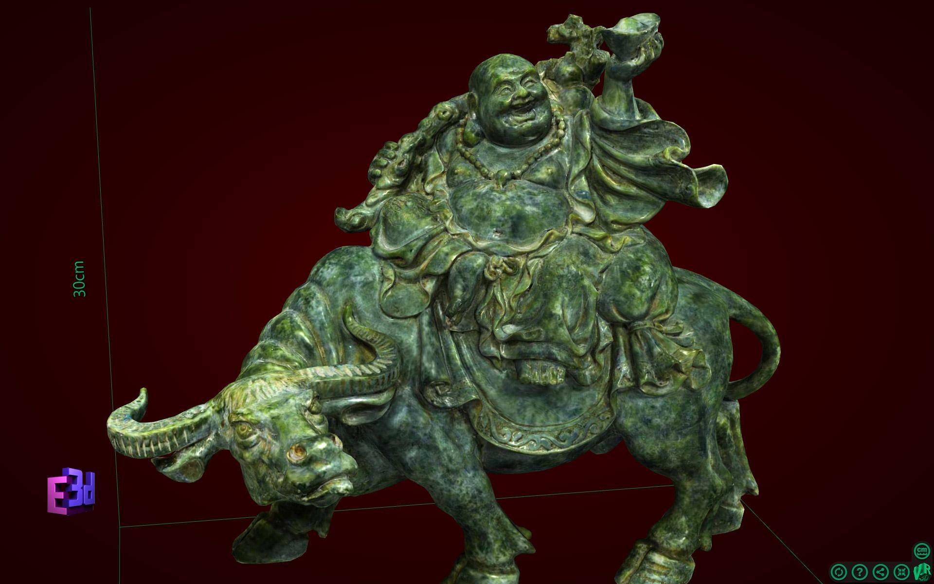 Phật Di Lặc cưỡi trâu to