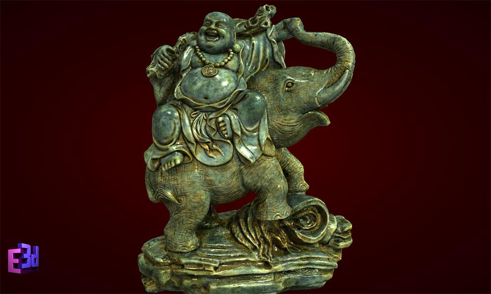 Tượng Phật Di Lặc cưỡi voi