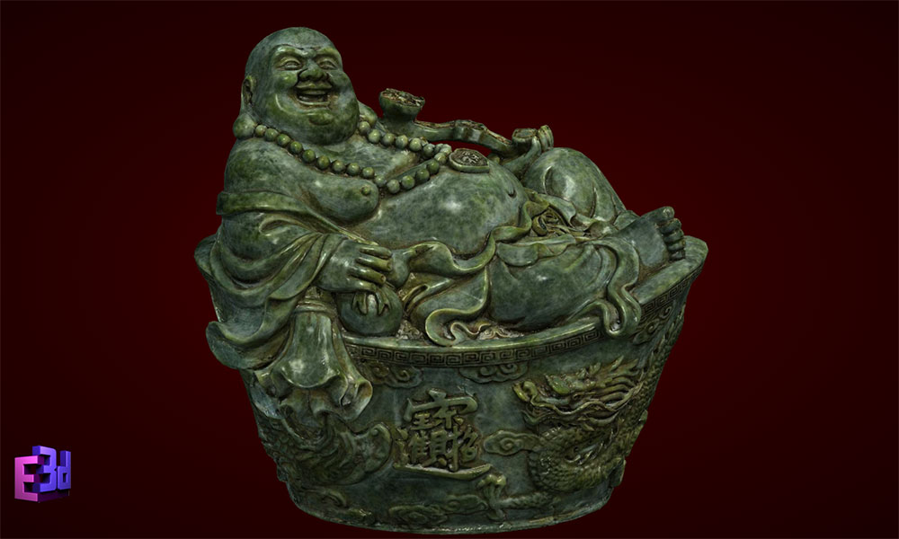 Phật Di Lặc nằm cục vàng to