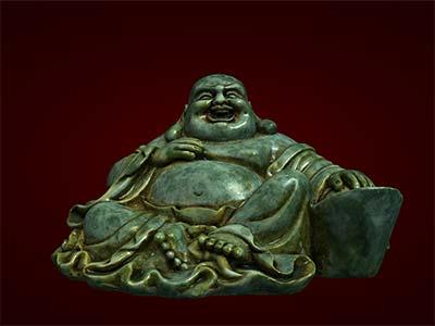 Tượng Phật Di Lặc ngồi cục vàng bé. tượng phong thủy. Hàng thủ công mỹ nghệ. Đồ lưu niệm. Quà tặng.