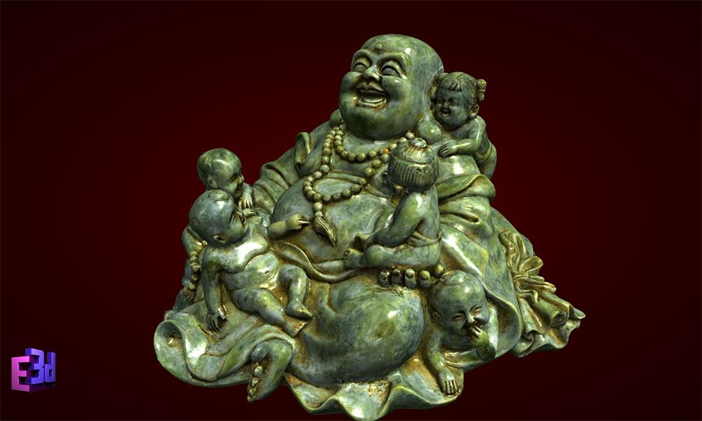 Phật Di Lặc ngũ tặc ngồi nhỡ
