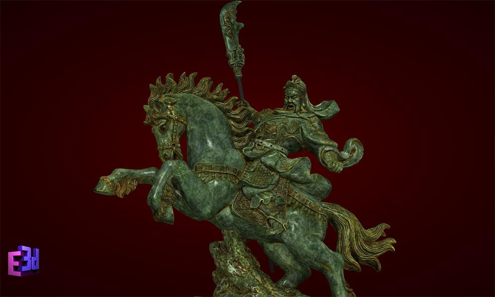 Quan Công cưỡi ngựa 1