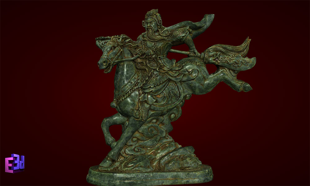 Quan Vân Trường cưỡi ngựa
