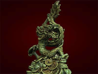Tượng rồng, tượng đúc