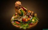 Món ăn trưng bày bằng công nghệ VR3D