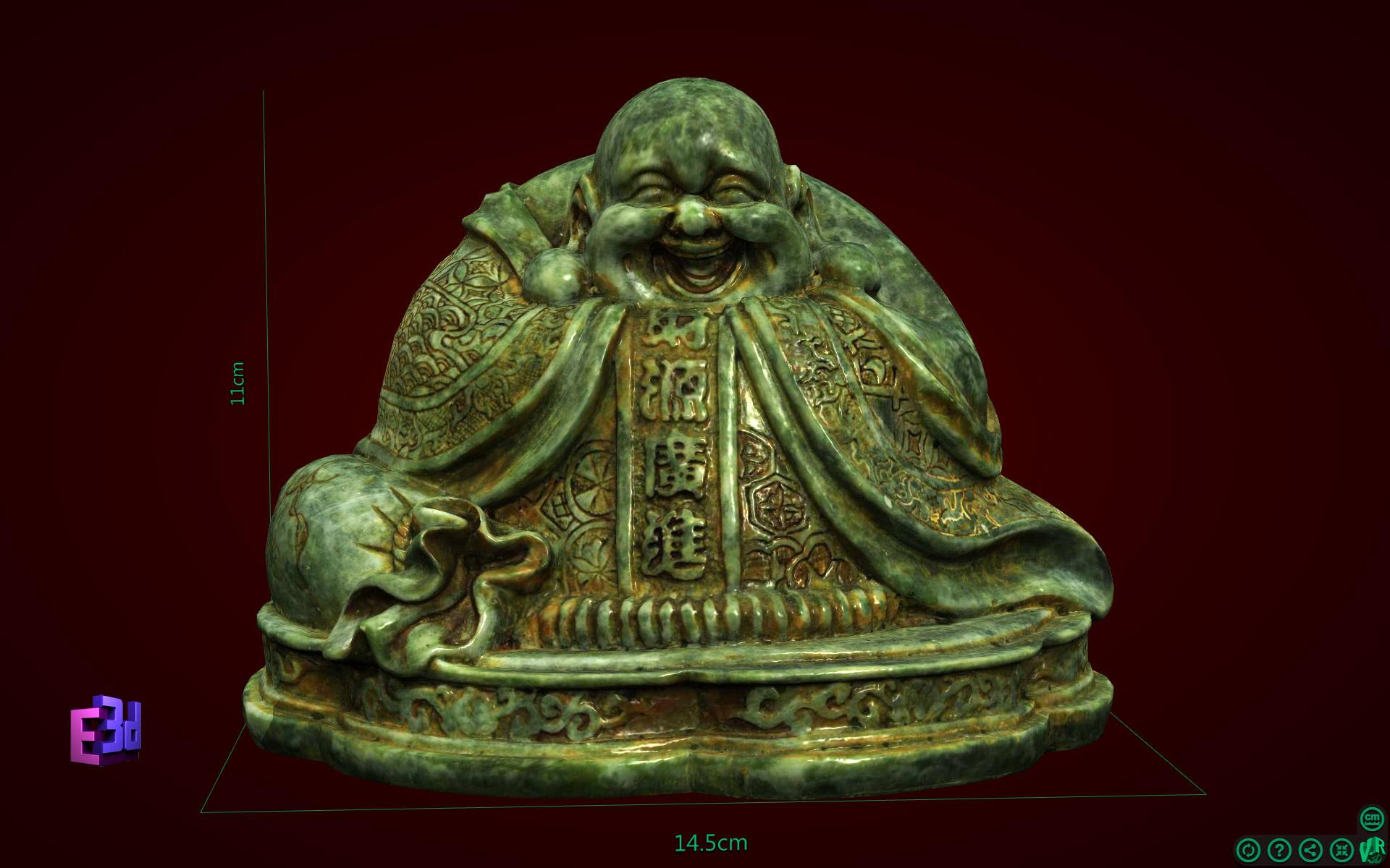Tượng Phật Di Lặc áo hoa to