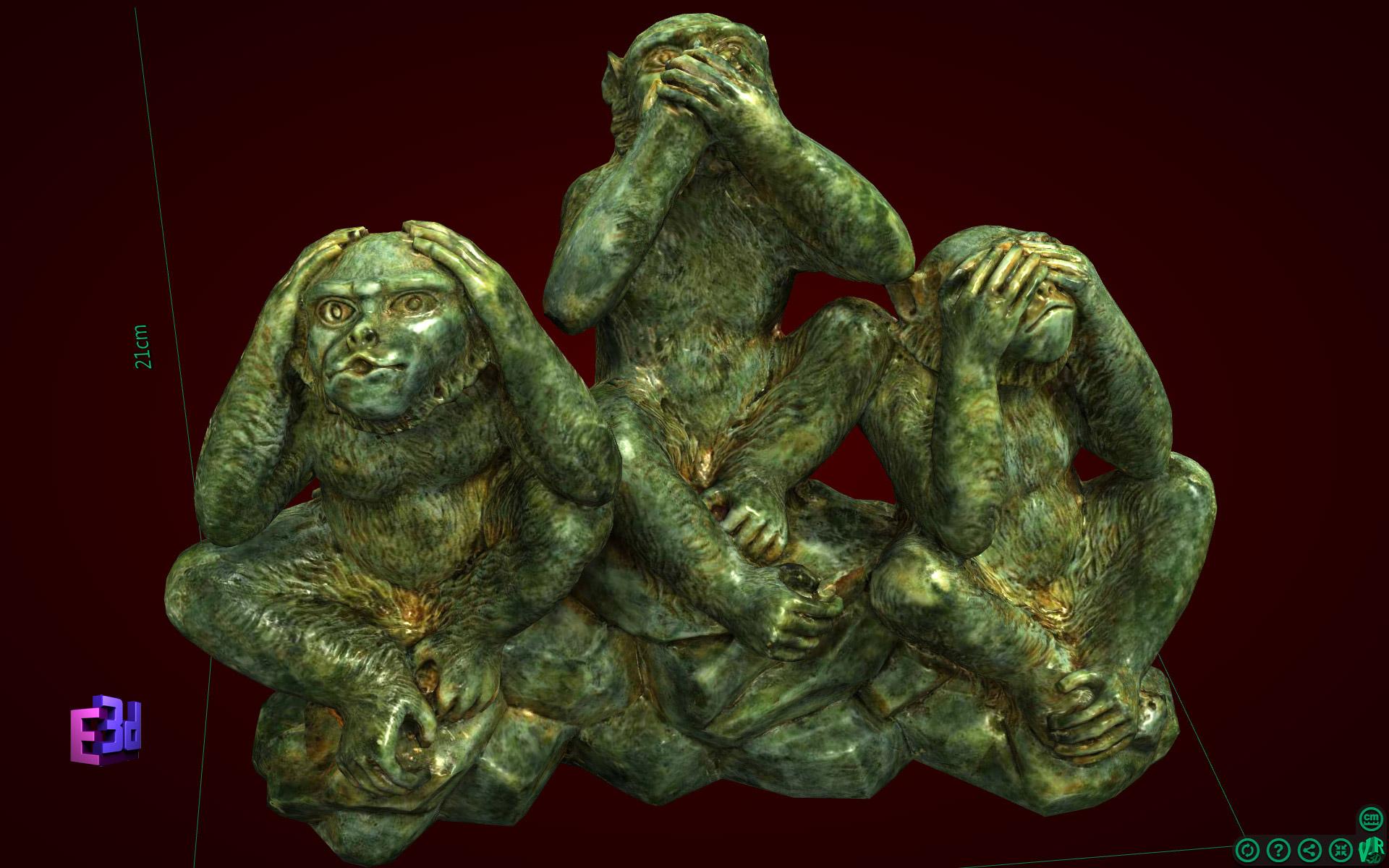 Tượng Khỉ Tam Không to