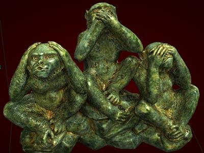 Tượng Khỉ Tam Không to - Quà tặng Tết Bính Thân 2016