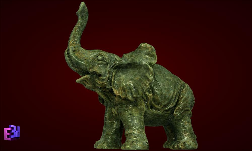 Trang trí bàn làm việc công sở - Tượng voi phong thủy
