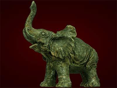 Tượng con voi, Trang trí bàn làm việc công sở - Tượng voi phong thủy